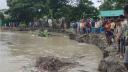 মুন্সিগঞ্জে পদ্মার ভয়াবহ ভাঙ্গন, কয়েক মিনিটে ৮ বাড়ি বিলীন