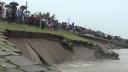 সিরাজগঞ্জ শহররক্ষা বাঁধের ১৫০ মিটার ধস, এলাকাবাসীর মধ্যে আতঙ্ক