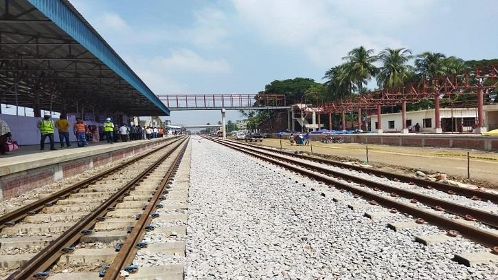 লাকসাম-কুমিল্লা রেলপথে ২৪ কিলোমিটার ডাবল লাইনের উদ্বোধন
